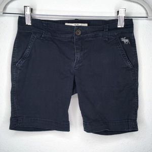 Abercrombie Kids Cute Stretch Long Shorts Navy 10